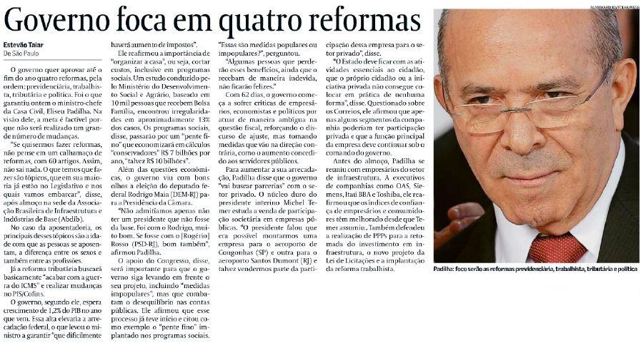 Valor reformas